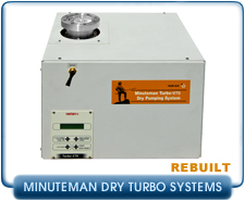 Rebuilt Varian Turbo Molecular High Vacuum  Pump Systems