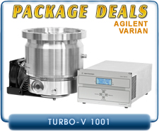 Agilent Varian Turbo-V 1001 Turbo Pump ISO-160, ISO-200, ISO-250, CF-10 inches Inlet & V1001 Navigator Controller Package Deal