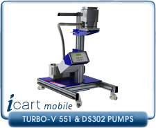 IVP iCart Mobile High-Vacuum System w/ Agilent Turbo-V 551 Turbo, ISO160, CF 8 Inlet, DS302 Roughing Pump