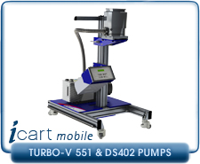 IVP iCart Mobile High-Vacuum System w/ Agilent Turbo-V 551 Turbo, ISO160, CF 8 Inlet, DS402 Roughing Pump