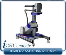 IVP iCart Mobile High-Vacuum System w/ Agilent Turbo-V 551 Turbo, ISO160, CF 8 Inlet, DS602 Roughing Pump