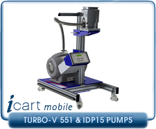IVP iCart Mobile High-Vacuum System w/ Agilent Turbo-V 551 Turbo, ISO160, CF 8 Inlet, IDP15 Roughing Pump