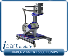 IVP iCart Mobile High-Vacuum System w/ Agilent Turbo-V 551 Turbo, ISO160, CF 8 Inlet, TS300 Roughing Pump