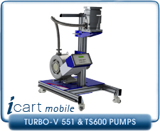 IVP iCart Mobile High-Vacuum System w/ Agilent Turbo-V 551 Turbo, ISO160, CF 8 Inlet, TS600 Roughing Pump