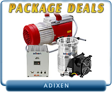 Brand New Adixen MDP-5011 Turbo, ACT 100 Controller, Pfeiffer 020-3AC Diaphragm Pump - Package Deal