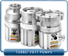 Varian Turbo-V 81-T Full-Turbo Molecular Vacuum Pump with Conflat 2.75 Inches, ISO 63 or KF-40 Inlet