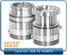 Agilent Varian TwisTorr 304 FS Turbo Pump with CF6 or ISO-100 Inlet