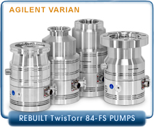 Rebuilt Agilent Varian TwisTorr 84-FS Turbomolecular Vacuum Pump, KF-40, ISO-63, CF-2.75, CF-4.5 Inches Inlet