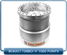 Agilent Varian Turbo V1000A V1000 Turbo Molecular High Vacuum Pump Rebuilt, 1000 l/s pumping speed