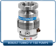 Varian Turbo-V 150HT Macro Torr Turbo Molecular High Vacuum Pump CF 4.5 in. Rebuilt, 130 l/s P/Speed