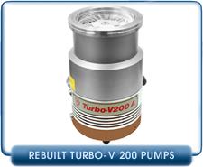 Agilent Varian Turbo V200A Turbo Molecular High Vacuum Pump Rebuilt, LF100, 220 l/s pumping speed