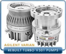 Rebuilt Agilent Varian Turbo V301 Turbo Molecular Drag Hybrid Vacuum Pump ISO100, ISO-160, CF6, CF8
