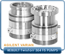Rebuilt Agilent Varian TwisTorr 304 FS Turbo Pump with CF6, CF8, ISO-100, ISO-160 Inlet