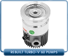 Agilent Varian Turbovac V60 Turbo Molecular High Vacuum Pump Rebuilt, LF63, 55 l/s pumping speed