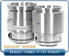 Rebuilt Agilent Varian Turbo-V 701 Navigator Turbomolecular High Vacuum Pump, CF 10, ISO-200 Inlet