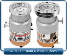 Agilent Varian Turbo V80A Turbo Molecular High Vacuum Pump Rebuilt, LF63, CF 4.5 inch 75 l/s pumping speed