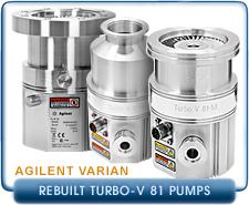 Rebuilt Agilent Varian Turbo-V 81-T Full-Turbo Molecular Vacuum Pump with KF40, ISO-63, CF 2.75, CF 4.5 Inlet