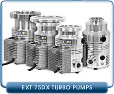 Edwards EXT75DX 24V Turbo Molecular High Vacuum Pump, 66 l/s Pumping Speed