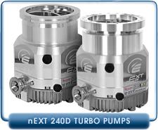 Edwards nEXT240D Compound Turbomolecular Vacuum Pump, 240 l/s, ISO-100 Inlet, 160 Watts,