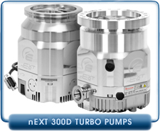 Edwards nEXT300D Compound Turbomolecular Vacuum Pump, 300 l/s, ISO-100 or CF 8 inches Inlet, 80 or 160 Watts, B82200100, B82200101, B82200200, B82200201