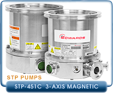 Edwards STP-451C 3-Axis Magnetic Bearing Ultra High Turbomolecular Pump, CF-8 inches, DN160CF Inlet
