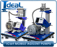 IVP iCart Mobile High-Vacuum System, Agilent Varian V81M Turbo Pump, ISO-63, SH-110 Dry Scroll Pump
