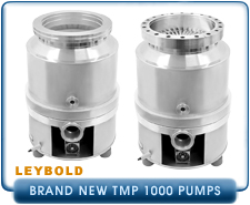 New Turbo Pumps -  Leybold TMP TurboVac 1000