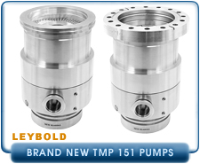 New Oerlikon Leybold Turbo Molecular Pumps - Leybold TMP 151 and 151C Turbo Molecular Vacuum Pumps