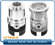 New Turbo Pumps -  Leybold TMP TurboVac 50