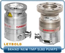 Brand New Oerlikon Leybold TURBOVAC SL 80 Turbo Molecular Vacuum Pump ISO-63, CF-450 and KF-40 Intake.