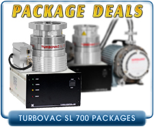 Oerlikon Leybold Turbovac SL-700 Turbo Vacuum Pump Systems, CF 8.0 in inlet, Package Deal