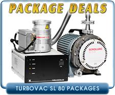 Oerlikon Leybold Turbovac SL-80 Turbomolecular Vacuum Pump System, ISO-63, KF40 & CF4.5in inlet, OEM Package Deal
