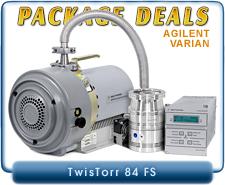 Agilent Varian TwisTorr 84 FS Turbo System, ISO63, KF40, CF 4.5, CF 2.75 Inlet & 24V DC Controller, OEM Package Deal