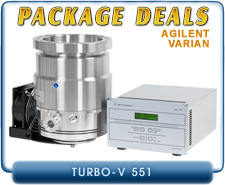 Agilent Varian Turbo-V 551 Turbo Pump ISO-160 or CF-8 Inlet & V551 Navigator or V550 Rack Controllers Package Deals