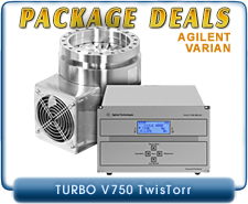 Agilent Varian Turbo-V 750 TwisTorr Turbo System, CF8 Inlet & AG Rack Controller, Basic Package Deal