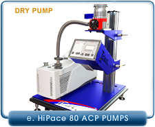 IVP iCart Mobile High-Vacuum System, Pfeiffer HiPace 80 Turbo Pump, ISO-63, KF40,CF 4.5 In, Adixen ACP15, ACP28, ACP40 Dry Pump