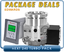 Edwards nEXT240D 80, 160 Watts Turbo Pump ISO-100, CF 6 Inlet, with TAG Turbo Controller with Power Supply