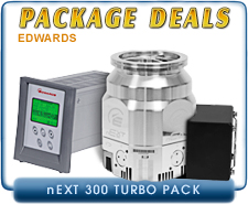 Edwards nEXT300D 80, 160 Watts Turbo Pump ISO-100c CF 6 Inlet, 300 l/s and 100W TIC Controller WITH Instrument