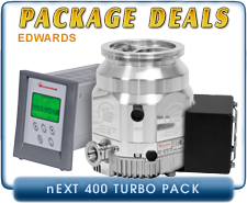 Edwards nEXT400D 160 Watts Turbo Pump ISO-160 Inlet, with TAG Turbo Controller with Power Supply
