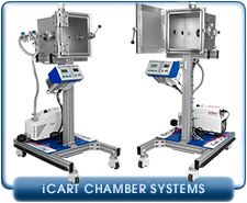 Ideal Vacuum iCart HD High Vacuum System, 12 In. Cube Chamber, Turbo Pumped, Acrylic Door, Mobile
