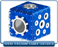 12x12x12 in. Modular iCube Frame for Ideal Vacuum Cube Modular Chambers, 6061 Aluminum