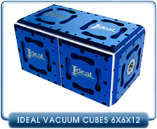 6x6x12 in. Modular iCube Frame for Ideal Vacuum Cube Modular Chambers, 6061 Aluminum