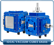 Ideal Vacuum Cube, 6x6x6 inch Vacuum Chamber Kit, Includes Plates And Vacuum KF-16, KF-25, KF-40, ISO63 Port, Aluminum