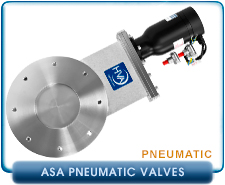 HVA ANSI ASA2, 4 and 6 inches Pneumatic Gate Valve, NO Solenoid, Viton Seals, 8 Bolt SS. PN: 11210-0401R