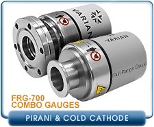 NEW Varian FRG-700 Active Full Range Pirani And Inverted Magnetron Gauge, 2.75 Inch