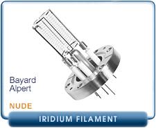 Varian Agilent UHV-24 Nude Bayard-Alpert Ion Gauge, 2.75 in. CF Flange, DUAL Thoria Iridium Filament