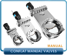 CF and HVA Gate Valve. Manual Deal-Seal Port Flange