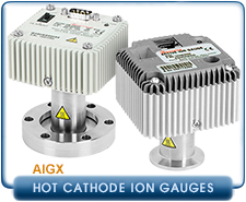 Edwards AIGX-S Active ION Gauge NW16, NW25, KF16, KF25, CF1.33, CF2.75, 10-2 to 10-10 Torr