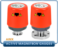 Edwards AIM-X Active Inverted Magnetron Gauge NW25, KF25, DN40CF, CF Conflat 2.75 in. 10-2 to 10-9 Torr