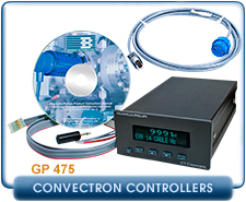 Granville Phillips 475 Convectron Vacuum Pressure Gauge Controller, no set points, 2 set points, power supply,